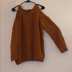Women's peep shoulder sweater